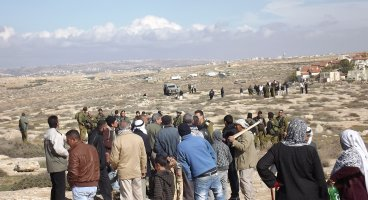 2012-12-22 Three Palestinians arrested while working the land close to Suseya, South Hebron Hills
