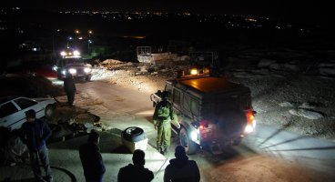 2013-10-06 Israeli Army invaded South Hebron Hills village of At Tuwani overnight