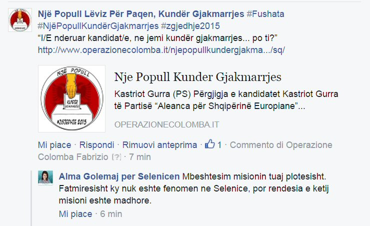 Alma Golemaj per Selenicen